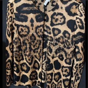 Chico's size 3(16-18) coat animal print